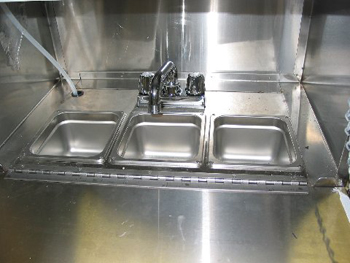 3 Section Sink