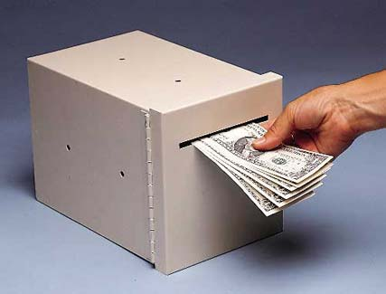 slot drop money box
