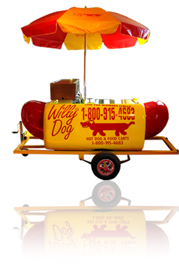WillyDog Carts Factory Direct 800-915-4683 US Factory Hot Dog Carts
